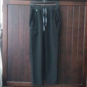 Figs black cargo scrub pants